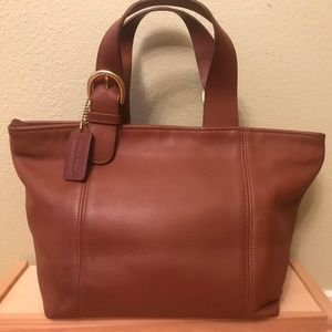 COACH SOHO Waverly Whiskey Brown Tan Leather Tote